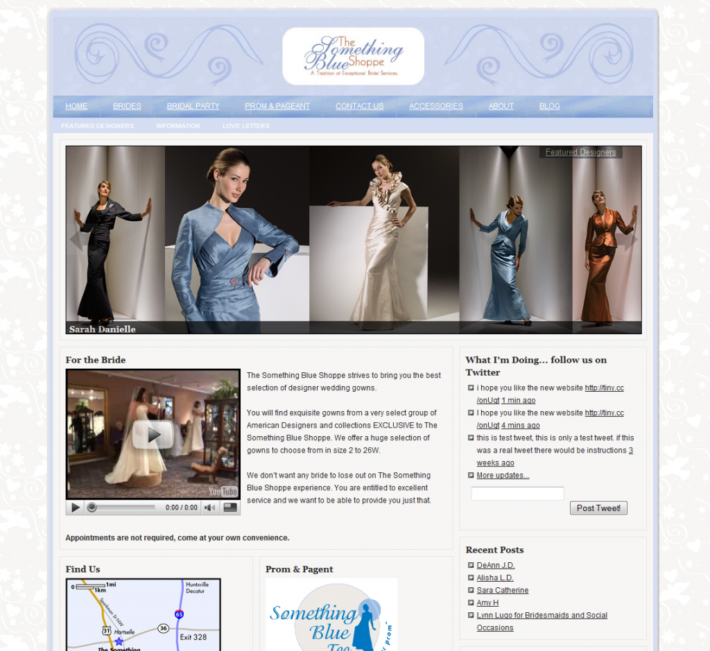 Bridal Salon Website