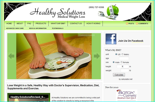 Healthy Solutions eCommerce Website