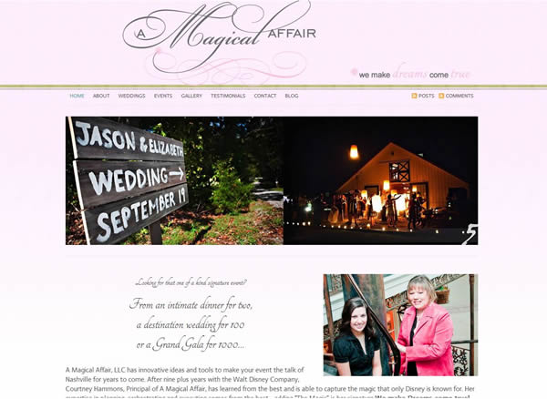 website for nashville, TN wedding planner, A Magical Affair
