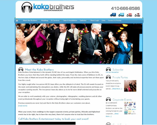 Koko Brothers Entertainment Website