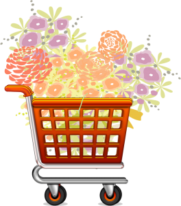 custom shopping cart icon for florist