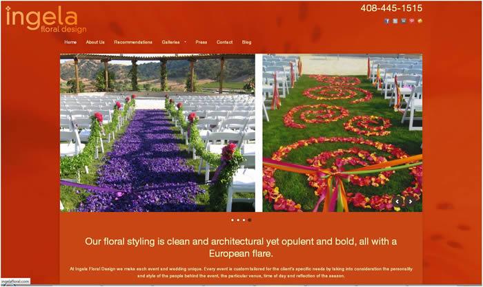 website for ingela floral design