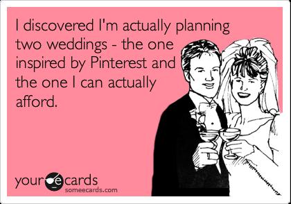 pinterest bride's reality