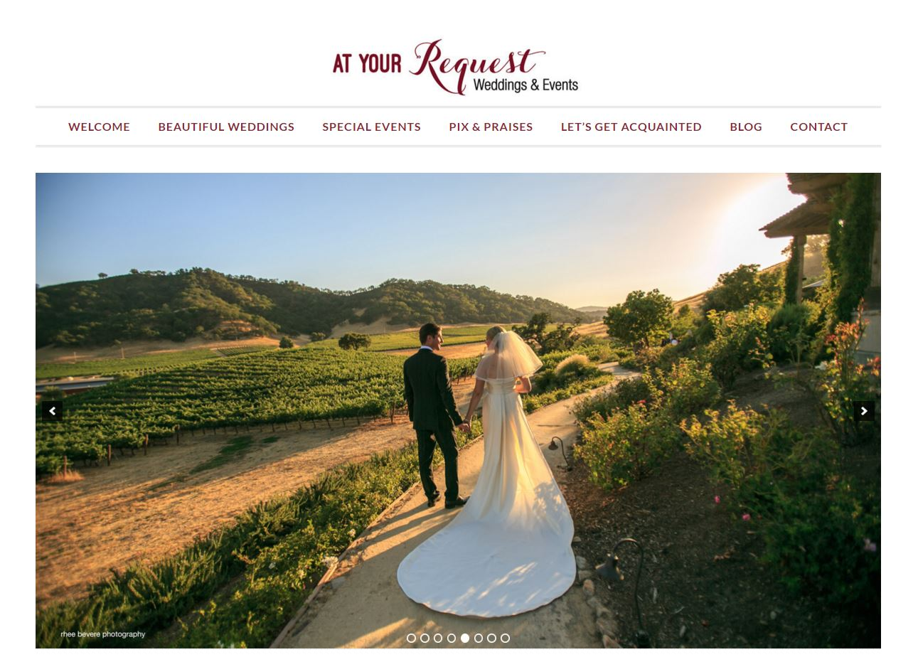 Website design for a wedding planner